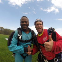 Tandem Skydiving Student and Instructor at Skydive PA